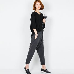 FASHION DIVA - Baggy-Fit Dress Pants
