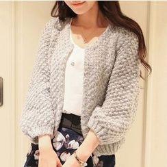 Hidari - 3/4-Sleeve Cable knit Cardigan