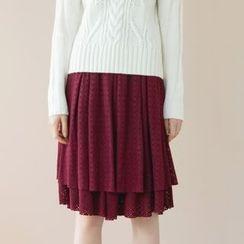 Tokyo Fashion - Layered Midi Skirt
