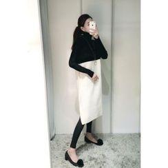 ATTYSTORY - Color-Block Long Knit Vest