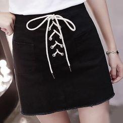 Fashion Street - Cross A-line Skirt