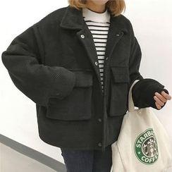 monroll - Pocketed Woolen Jacket