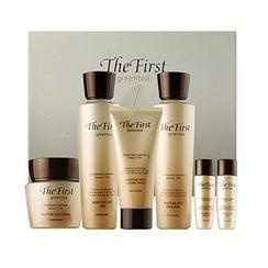 Kwailnara - The First Greentea Moisture Hyo Set: Skin 150ml + 30ml + Emulsion 150ml + 30ml + Cream 50ml + Sleeping Pack 50ml