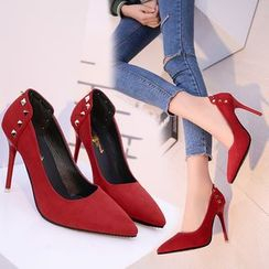 Sunsteps - Studded Pointy Pumps