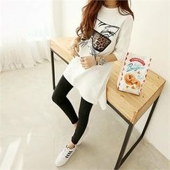 PIPPIN - Cat Printed Long T-Shirt