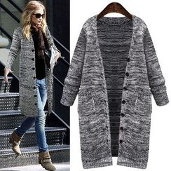 MayFair - Marled Long Cardigan