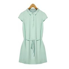 GRACI - Short-Sleeve Shirtdress