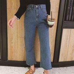 OCTALE - Ripped Wide Leg Jeans