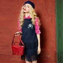 ELF SACK - Fringed Sleeveless Dress
