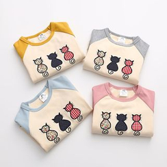 Seashells Kids - Kids Cat Raglan Long-Sleeve T-shirt
