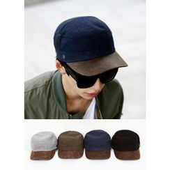 MODSLOOK - Faux Leather-Panel Cap