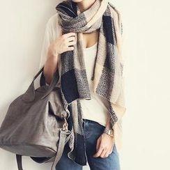 嘉蒂斯 - 格紋針織圍巾