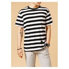 HOTBOOM - Cotton Stripe T-Shirt