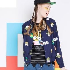 MUKOKO - Printed Snap-Button Jacket