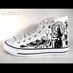 HVBAO - 'Ancient Egypt' Canvas Sneakers