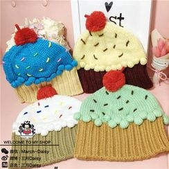 March Daisy - Kids Cake  Accent  Knit  Beanie