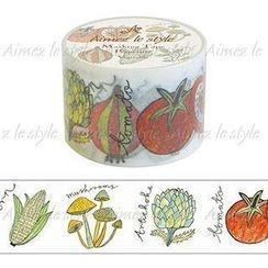 Aimez le style - Aimez le style Masking Tape Primaute Wide Vegetable