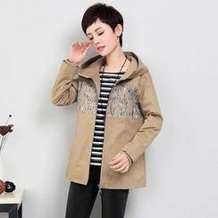 NINETTE - Printed Hooded Jacket