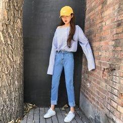 Big Cat - Roll-Up Hem Straight Cut Jeans