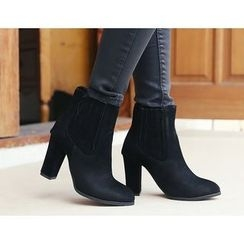 DANI LOVE - Faux-Suede Ankle Boots
