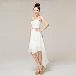 Gracia - Strapless Dip-Back Chiffon Bridesmaid Dress