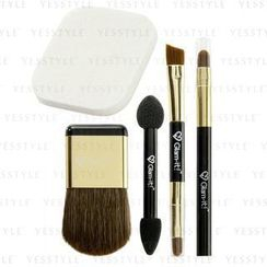 Glam-it! - Mini Makeup Tool Set: Makeup Brush + Puff + Sponge For Eye Shadow