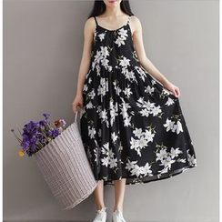 Clover Dream - Strappy Floral Midi Dress