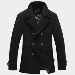 One-T - Double-Breasted Wool-Blend Peacoat