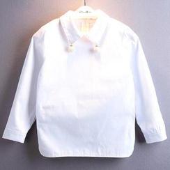 Kidora - 小童长袖饰仿珍珠衬衫