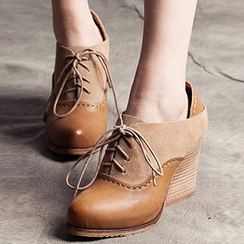 MIAOLV - Panel Wedge Oxfords