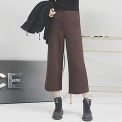 Sonne - Wide-Leg Cropped Knit Pants