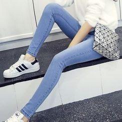 Nassyi - Washed Skinny Jeans