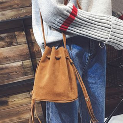 Clair Fashion - Faux-Leather Cross Body Bucket Bag