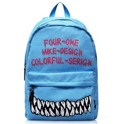 Fourone - Printed Canvas Backpack