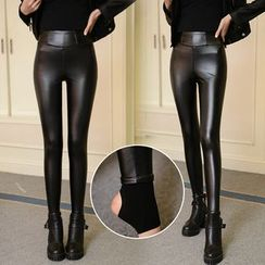 November Rain - Faux Leather Leggings