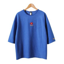 Momewear - 3/4-Sleeve Embroidery T-Shirt