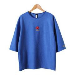 Momewear - 七分袖刺繡T恤