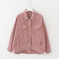 Meimei - Corduroy Button Jacket