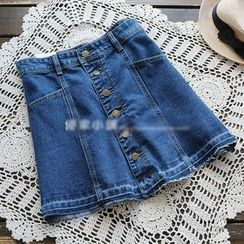 YOYO - Denim A-Line Skirt