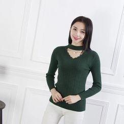 Coolvibe - Long-Sleeve Cutout Knit Top