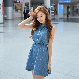 Cherryville - Denim Sleeveless Mini Dress