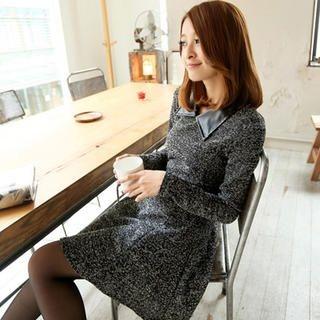 Tokyo Fashion - Faux-Leather Collar Tunic