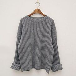 Polaris - Plain Ribbed Sweater