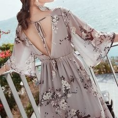 Amella - Floral Chiffon Dress