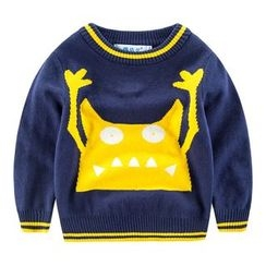 DEARIE - Kids Monster Print Sweater