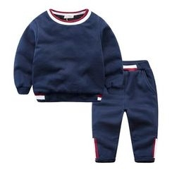 DEARIE - Kids Set: Striped Pullover + Pants