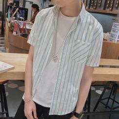 Prep Soul - 細條紋短袖襯衫