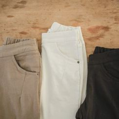 JUSTONE - Brushed-Fleece Lined Slim-Fit Pants