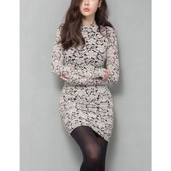 GUMZZI - Brushed-Fleece Laced Dress