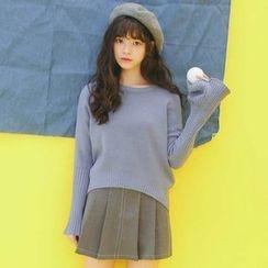 SUYISODA - Bell-Sleeve Knit Top